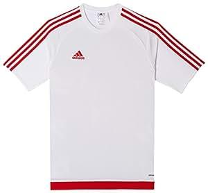 adidas Estro 15, T-Shirt Uomo, Multicolore (Blanco/Rojo), L