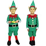 Fancy Steps Kids Christmas( Select Size In Dropdown) Party Costume Fancy Dress Children Outfit Boys Girls Nativity Costume | Xmas Costume | Holidays | Birthday B'Day Gift (2 To 4 Yrs)