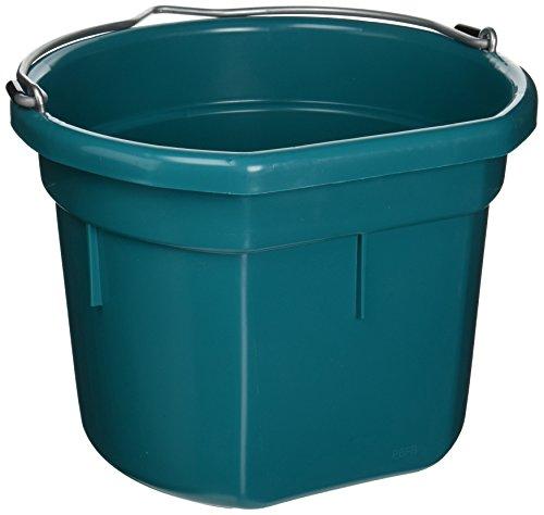 miller-manufacturing-plastic-flat-back-bucket-horses-resists-warping-teal-8qt