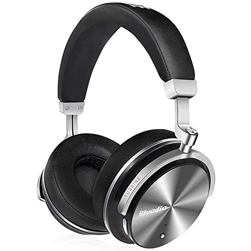 HAPQIN Bluedio T4S Active Noise Cancelling Cuffie Bluetooth Wireless con Auricolari girevoli Over-Ear con Microfono