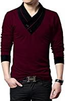 Seven Rocks Men's Cotton T-Shirt (Pack Of 1) (Un1Wm_Maroon & Melange)