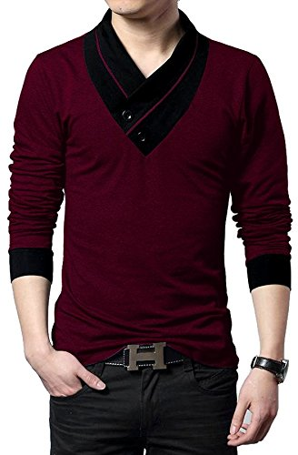 EYEBOGLER Men's Cotton T-Shirt (Xl-Cun-Wm_Wine Melange_X-Large)