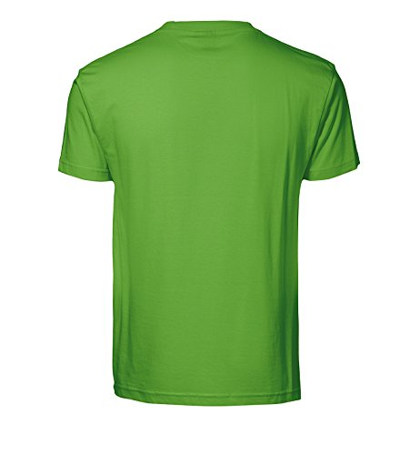 Bedrucktes Herren T-Shirt mit Motiv Golden Retriever Apfelgrün