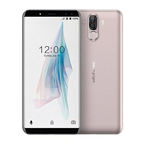 Ulefone Power 3 Smartphone 4G, 6,0 Pollici(18:9) Schermo Telefoni, 13,0MP+5,0MP Anteriore, 21,0MP+5,0MP Posteriore Fotocamera 6080mAh Cellulari, Android 7,1 Processore 8-core CPU Telefonia Mobile con 6GB RAM + 64GB ROM , Doppio SIM - Oro