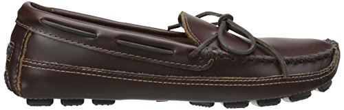 Minnetonka Double Bottom Cowhide Driving Moc, Mocassins Homme Marron (Brown)