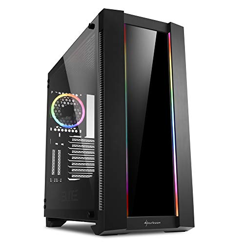 Sharkoon ELITE SHARK CA200G - Caja de Ordenador, PC Gaming, Semitorre ATX, Negro