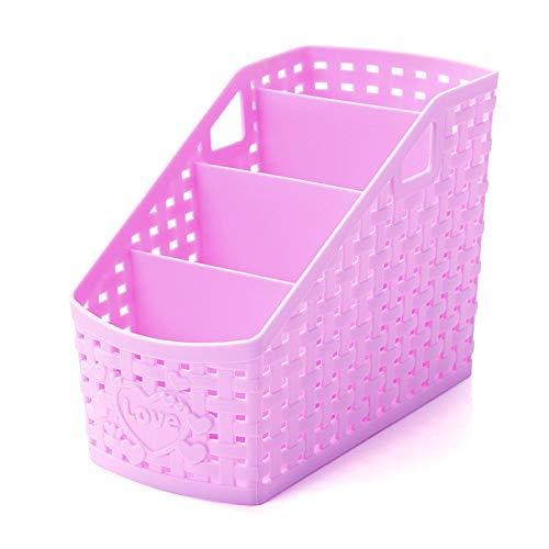 Kunststoff Aufbewahrungsbox Bad Organizer Box Desktop 4 Grid Sub-Grid Aufbewahrungskoffer Multifunktions-Speicherorganisator Für Fernbedienung Kosmetikhalter - Wickeltische Babybetten Und