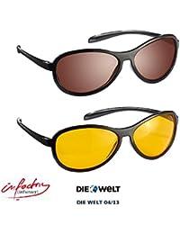 """infactory Autofahrerbrille: HD Kontrast-Brillen-Set """"Night Vision"""" & """"Day Vision"""" (Blendschutz Brillen)"""