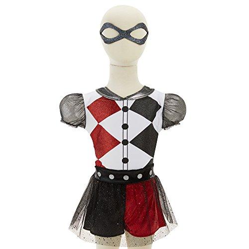 Imagen de disfraz de harley quinn para niñas y para todas ocasiones de superhéroes de dc comics, talla única alternativa