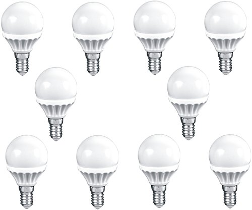 Müller-Licht EEK A+ LED Birne E14 Tropfen 3W 230V warmweiß 250lm (26W Licht) 45x74mm 2700K ersetzt 25W Glühbirne (10er-Set)