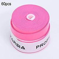 60PCS / Set Profile Tenis Sobregrip Perforado Sticky Feel Raquetas de Tenis Puños Sobregrip de bádminton - Rosa roja