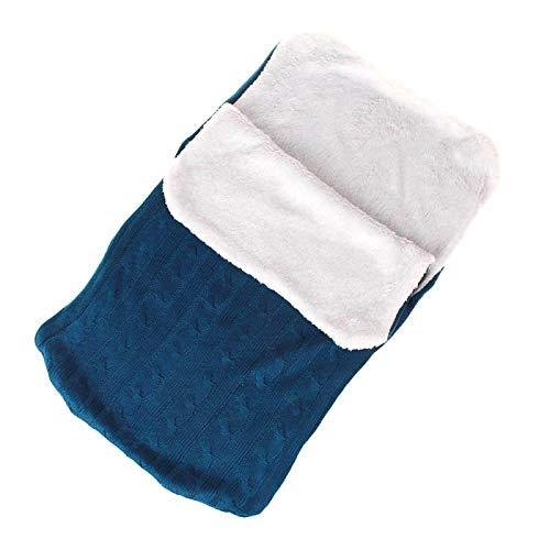 Imagen para LXGKREL - Saco de Dormir para bebé (Suave, para recién Nacidos de hasta 12 Meses, Todas Las Estaciones) Azul Azul Oscuro