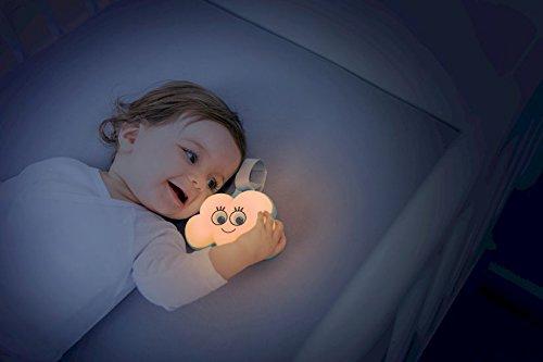 Baby Einschlafhilfe Nachtlicht Wolke, Spieluhr mit 15 Melodien, 6 Lichtfarben, Klettverschluss für Kinderbett - Wolke, Spieluhr, Nachtlicht, mit, Melodien, mehrfarbig, Lichtfarben, Klettverschluss, Kinderbett, für, Badabulle, baby einschlafhilfe auto, B015006