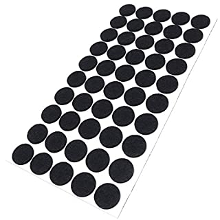 Adsamm® | 50 x Felt Pads | Ø 0.87'' (Ø 22 mm) | Black | Round | self-Adhesive Furniture Glides with Felt Thickness of 0.138''/3.5 mm in top-Quality by Adsamm®