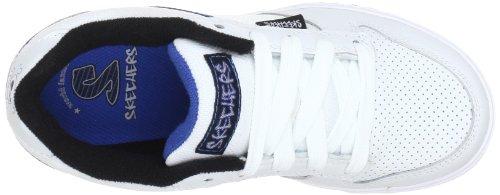 Skechers 91476L Wbl, Baskets mode garçon Blanc (Wbl)