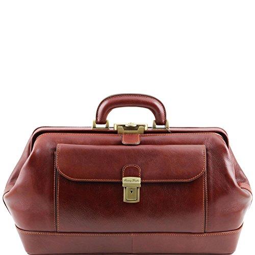 Tuscany Leather - Bernini - Exklusive Arztkoffer Braun - TL141298/1 (Handtasche Bernini Damen)