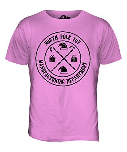 CandyMix Nordpol Spielzeug Abteilung Weihnachten Herren T Shirt Rosa