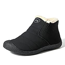 gracosy Women Snow Boots Waterproof Fur Lined Winter Ankle Short Boots Slip On Lightweight Anti-Slip Boots Casual Comfortable Outdoor Flat Walking Shoes Warm Sneaker for Men and Girls - 41UmflIU 2BnL - gracosy Women Snow Boots Waterproof Fur Lined Winter Ankle Short Boots Slip On Lightweight Anti-Slip Boots Casual Comfortable Outdoor Flat Walking Shoes Warm Sneaker for Men and Girls