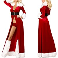 Damen Reizwäsche Sexy Nachtkleid Nachthemd Lingerie Kleid Dessous Weihnachten Frauen Sexy Lange Nachtwäsche Flauschiger... preisvergleich bei billige-tabletten.eu