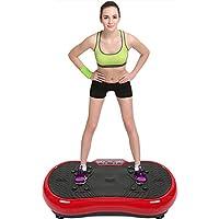 Preisvergleich für POPSPARKk Profi Vibrationsplatte Fitness vibrationsgerät mit magnetfeldtherapie zugseil Rüttelplatte Rutschsicherer Trainingsfläche LED Display