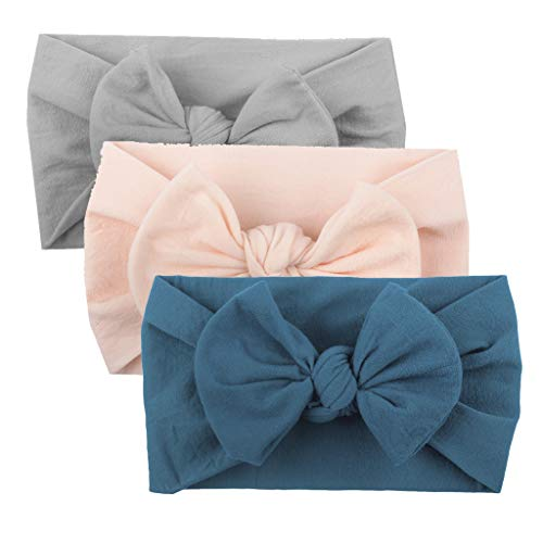 Huhu833 Baby Stirnbänder, Cute Baby Kleinkind Infant Circle Stirnband Stretch Haarband Headwear (3 Pcs E)