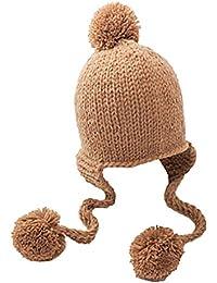 Boomly Neonate Bambino Invernale Caldo Carina Berretto di Lana a Maglia  Protezione Orecchio Paraorecchie Cappello con 913f9bda03d1