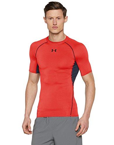 Under Armour Armour Hg Ss T, Camiseta de manga corta Para Hombre, Rojo (Rocket Red), M