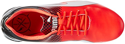 Puma Evospeed Electric Tricks, Chaussures dAthlétisme Mixte Adulte Rouge - Rot (Red blast-puma black-puma White 01)