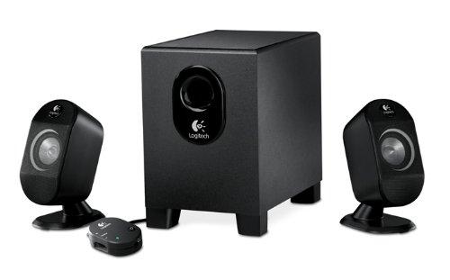 Logitech X 210 2.1 25 Watt RMS PC-Lautsprecher-System