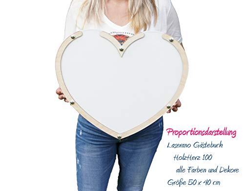 Alternatives Hochzeitsgästebuch, Herzform   Personalisierbar mit Wunschgravur - 2