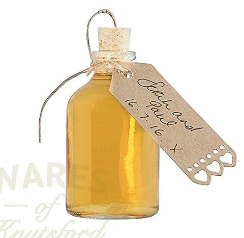 Bouteille miniature de 50 ml avec bouchon de liège x 24. Idéal pour les petits cadeaux et les faveurs de mariage.