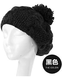 YangR Winter Caps children tide woolen knitted hats lovely gross ball knitted  warm ear cap 663466e6452f