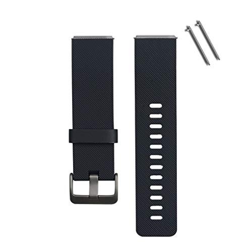 Busirde 23mm Einstellbare Sport Armband Silikon-Uhrenarmband für Fitbit Blaze Smart Watch schwarz - 23mm Silikon Uhrenarmband