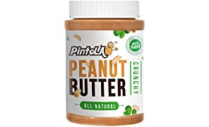 Pintola All Natural Crunchy Peanut Butter, 1kg (Unsweetened)
