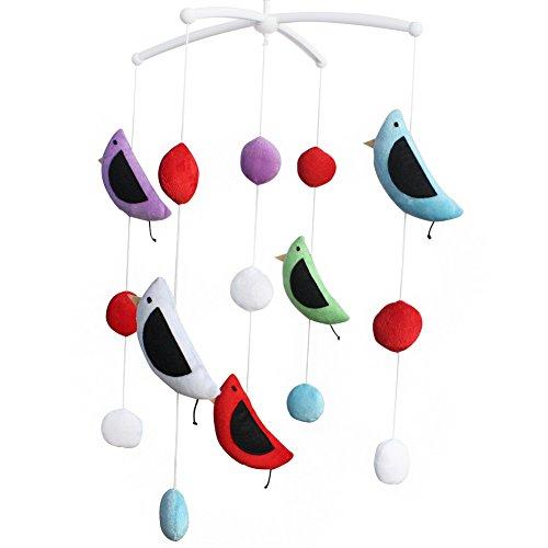 Musical Kind Krippe Mobile für Unisex Baby, bunte Vogelspielzeug