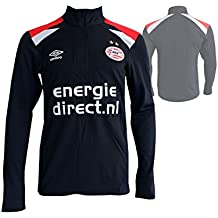 Umbro PSV Eindhoven Entrenamiento de Fútbol Camiseta Eredivisie Fútbol Jersey PSV Camiseta Negro, Unisex,