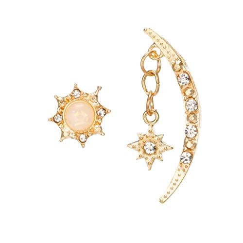 tage Ohrstecker Mode mond Sonne Stern anhänger Diamant Legierung Ohrstecker schmuck ()