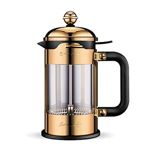 Manuelle Kaffeekanne Haushalt Filter Topf 304 Edelstahl Hand Schlag Druck Topf Filter Tasse Tee,Gold
