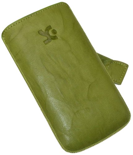 Suncase Original Custodia in pelle per Apple iPhone 4, colore: Verde