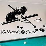JXND Billardhalle Billardzimmer Club Club Sports Center Wandaufkleber Snooker Charakter Sport Aufkleber 65X100CM