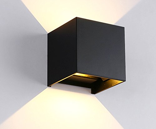 Lampada da parete in alluminio e ceramica cristalensi