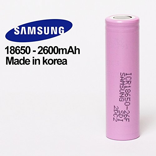 samsung-icr18650-26f-18650-desprotegidas-37-v-2600-mah-bateria-recargable-con-5-mm-niquel-u-de-solda