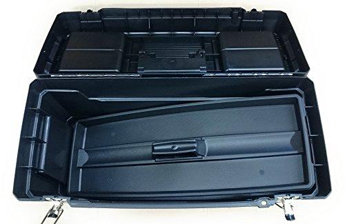 Stanley Werkzeugbox Metall Latch 25″, gummierte Metallschließen, ergonomischer Komfortgriff, Organizer, 1-94-859 - 4