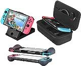 Bestico 3 in 1 Zubehör Set für Nintendo Switch ,einschließlich Reisetasche/Schutzhülle/einstellbaren Ständer für Nintendo Switch