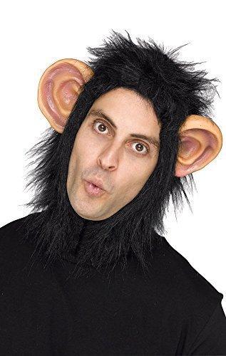 Herren Damen Erwachsene Affe-schimpanse Maske Kapuze Kopfbedeckung Animal Biest Kostüm Kleid (Schimpanse Maske Kostüm)