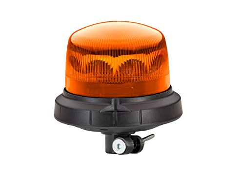 HELLA 2XD 013 979-011 RotaLED Compact FL, blitzende LED Kennleuchte, Flexible Rohrstutzenbefestigung, 10V-30V