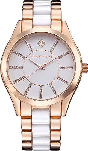 Timothy Stone CHARME BICOLOR Rose Gold/White Women's Design Watch 40mm