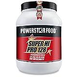 Unser Bestseller SUPER HI PRO 128 - Mehrkomponenten Power Protein Pulver - nach wissenschaftlicher Formel erstellt - höchstmögliche biologische Wertigkeit (Vanille, 1200 g Dose)