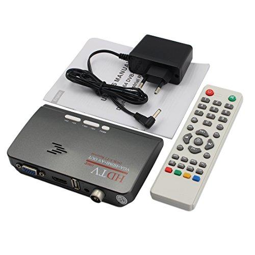 Vga Tv Tuner (NoyoKere MTV Box Set Top Box PC Empfänger Tuner Externe LCD CRT VGA TV Tuner HD 1080 P TV Box Lautsprecher für HDTV Kanal Gaming Control)