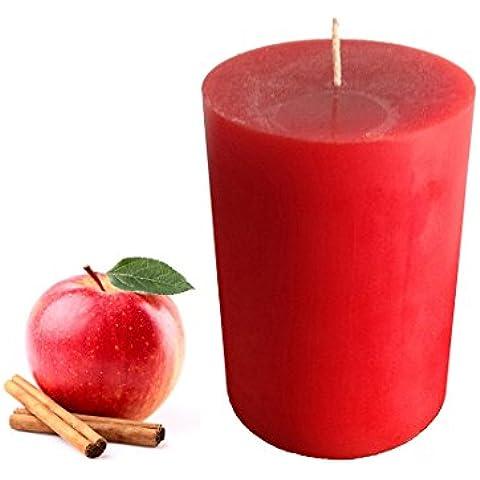collumino Apple & Cannella profumata pilastro Rosso Taglia 10X 7cm